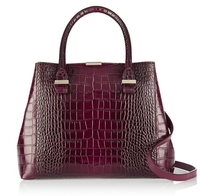 2014 fashion crocodile glossy laminated tote bag wholesale xxx lady bag trapeze bag A73