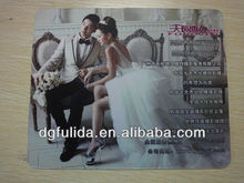 wedding photo heat transfer custom advertising mouse pad