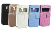 New Window Leather flip Case with hard Cover for Samsung Galaxy S4 Mini i9190