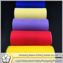 China fabric wholesale 100% spun polyester sewing thread fabric tulle for skirt