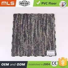Carpet Look Interlocking Pvc Vinyl Plank Flooring Sound Absorbing Material