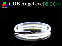 1Pair 80MM COB LED Angel Eyes Headlight Halo Ring Warning Lamps 12V DC