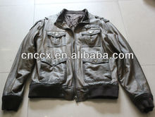14PJ1137 High quality old pu men leather jacket