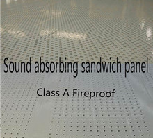 professional Sound Absorbing fire rated sandwich panel polyurethane pu sealing core material rock wool/glass wool