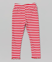 Best Selling Fashion Red White A-line Striped Trousers Kids Girl Long Pants Z-PT80724-8