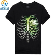 2017 new rock band Europe and the United States 3D men's short-sleeved T shirt