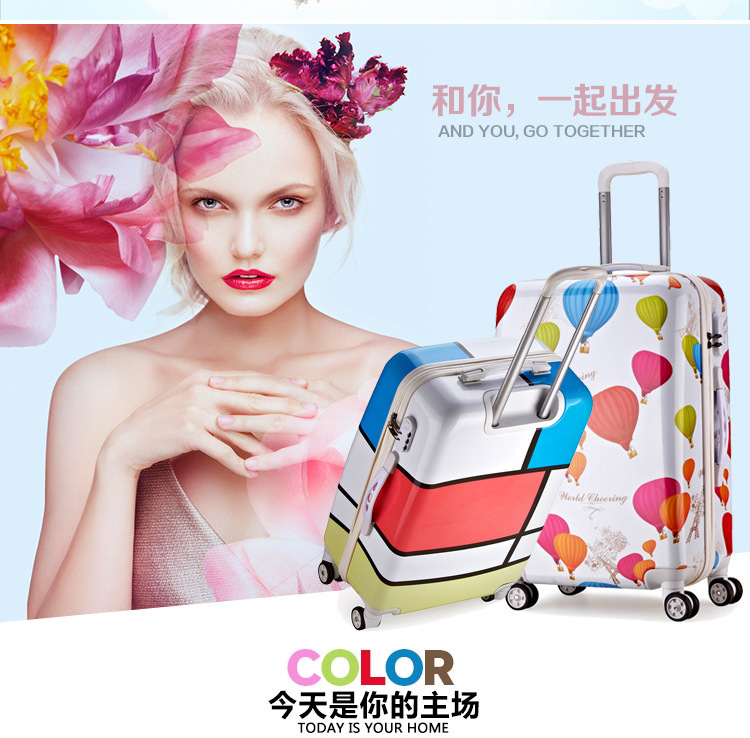 Cartoon Travel Rolling Luggage Spinner Wheels Kids Suitcase Carry On 20 24 Inch Business Airplane Trolley Luggage (2)