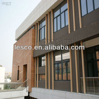 WPC curtain wall wood facade