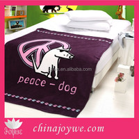 Sales Promotion Baby Blanket In Discount Super Soft Cheap Fleece Blanket With Dog Pattern