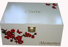 vintage white wooden box for gift canton fair 2015
