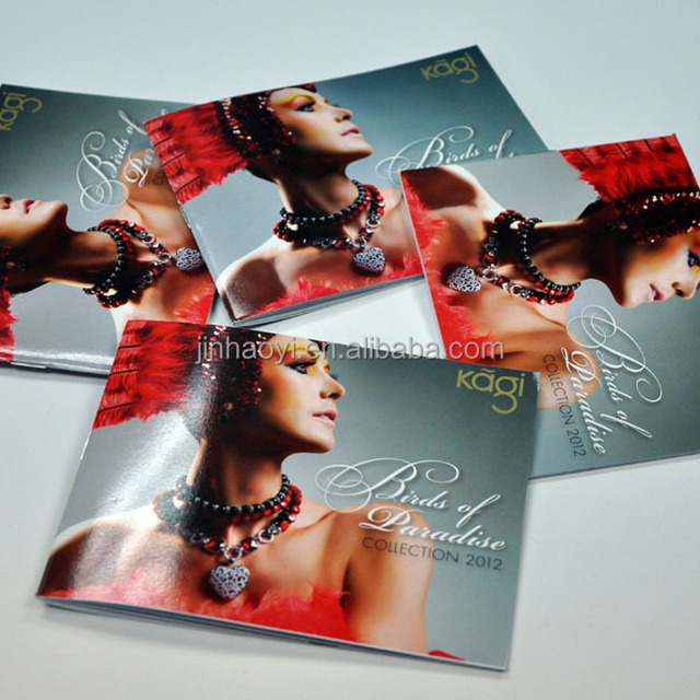 Custom advertising pamphlet/ folded cosmetic catalogue/brochure design