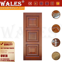 3 HDF panel design woodgrain office soundproof solid interior wood door