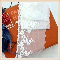 new fashion cotton lace fabric hand zari embroidery design with mesh for wedding decoration