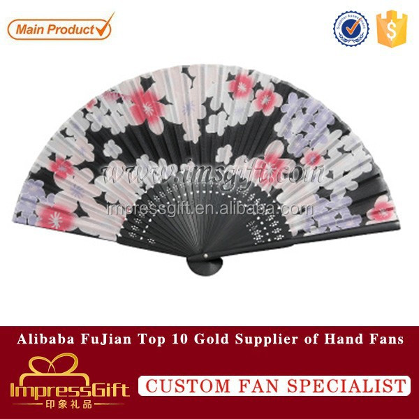 Hot selling painted bamboo silk hand fan for gift