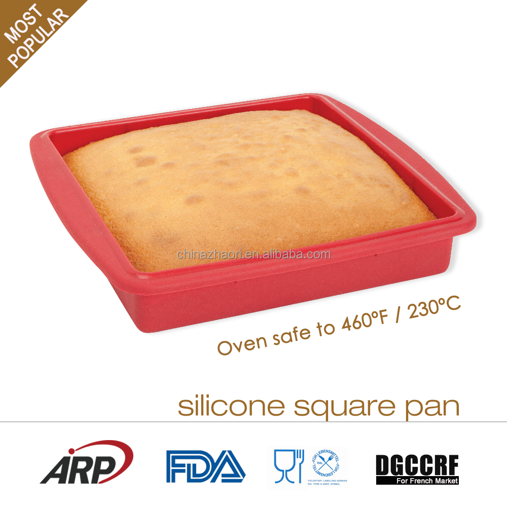 Hot Sale Gift Promotional Platinum Silicone Square Cake Mold