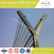 Y type airport fence/airport security fence/prison barbed wire fence ISO9001 (20 years factory)