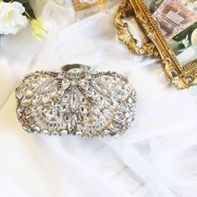 China Women Fashional Designed Wholesale crystal luxury clutch bag