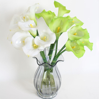 Calla Lily Bridal Wedding Bouquet head Latex Real Touch Artificial Flower Decor Latex Flores Artificial