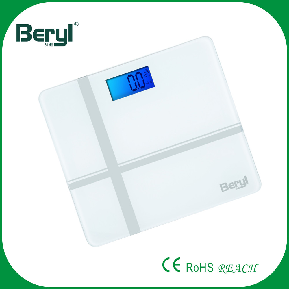 BY1312D Newest Model Fashion Temperature Display Digital Fitness Scale