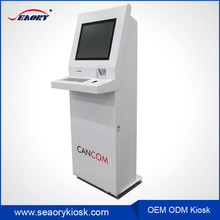 19 inch queue management solution kiosk / turn dispenser/automatic tickets system kiosk