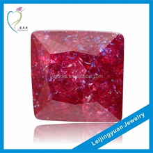 Square Shape Garnet Ice CZ Stones Low Price Rough Diamond Jewelry
