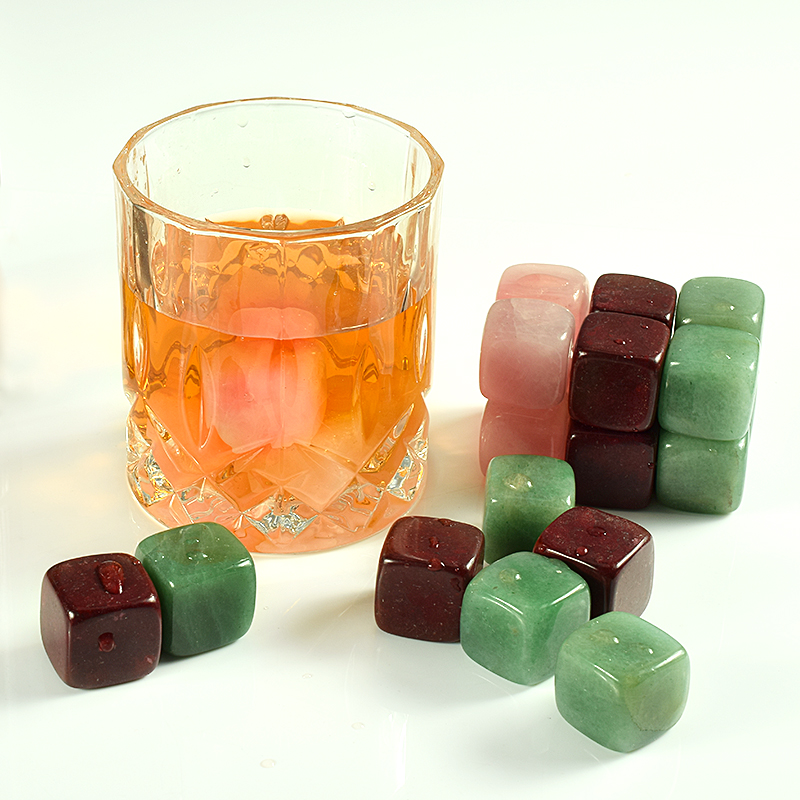 Wholesale natural gemstone whiskey stone bar accessories <strong>wine</strong>