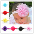 Wholesale in Europe and the children's hair ribbon manual chiffon headdress flower elastic hair band