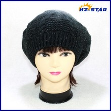 HZM-14101 small order Accept long soft men's sports winter beanie children knitted crochet patterns hats women beret 2015