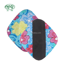 Bio breathable soft bamboo charcoal PUL butterfly woman panty liner