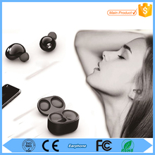 Super mini stereo bluetooth headset dual driver earphone