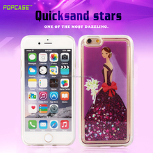 Beautiful princess design!Guangzhou made factory price TPU+quick sand mobile accessories case for Iphone6