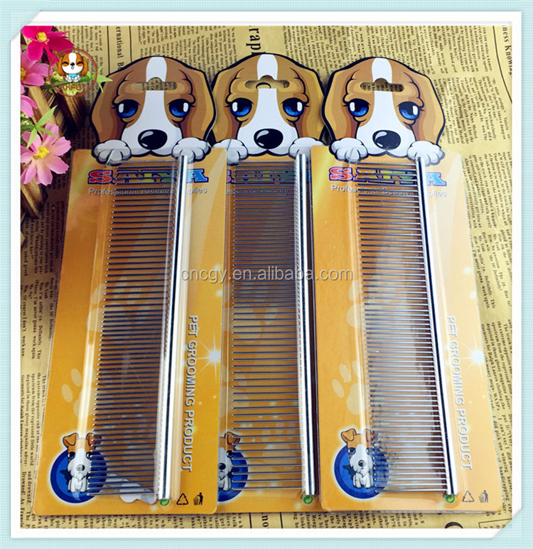 High Quality stainless steel Cattle lice comb flea comb pet comb