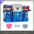 JY-A01 double working stations high performance silicone trademark machine , plastic labels maker equipment