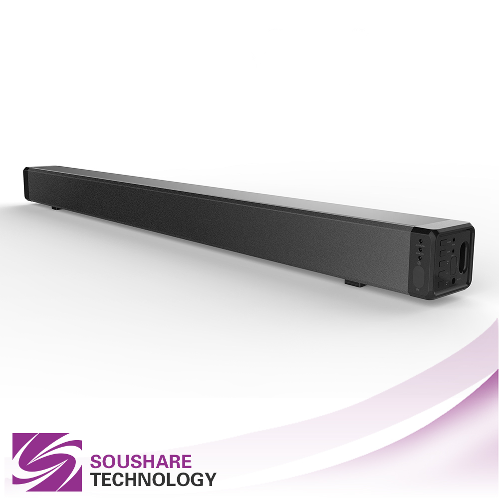 2017 new style popular wireless TV sound bar audio hang on the wall speaker