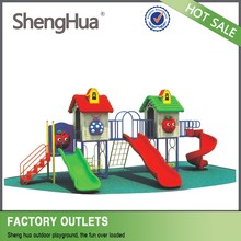 Kids Park Sand Play Outdoor Woods Theme Children Playground Equipment with Clear Playground Install Pictures
