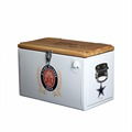 Giwox 25L Metal Cooler Ice Chest with Wooden Cover, Cooler with Stand