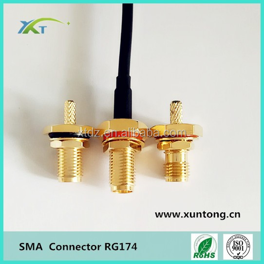 sma compression fitting female connector