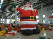 inflatable santa clause outdoor indoor yard decor lighted