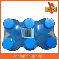 Popular durable PE heat shrink film , PE plastic wrapping film for drink bottle packing