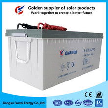 Rechargeable maintenance free VRLA 200Ah 12v lead acid battery with CE certification