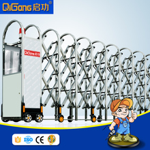 Best selling retractable sliding gate for factory entrance different design of gate colors QG-J1634
