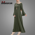 Low Price Manxun Wholesale Muslim Maxi Casual Dress For Lady Top Quality Abaya From Dubai Islamic Popular Clothing