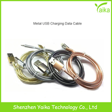 Yaika Wholesale Electroplating Stainless USB 8pin Data Charging Cable for iPhone