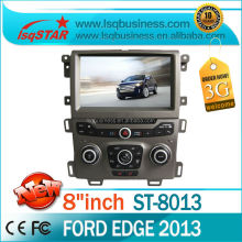 High quality Central multimedia Capacitive Android 4.2.2 Ford Edge Car audio dvd with 3G/Wifi OBD BT