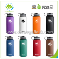 New 32OZ Hydro Flask Power Coating Insulated Stainelss Steel Water Bottle with Wide Mouth Lids