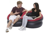 2016 new design double pvc plastic inflatable air sofa
