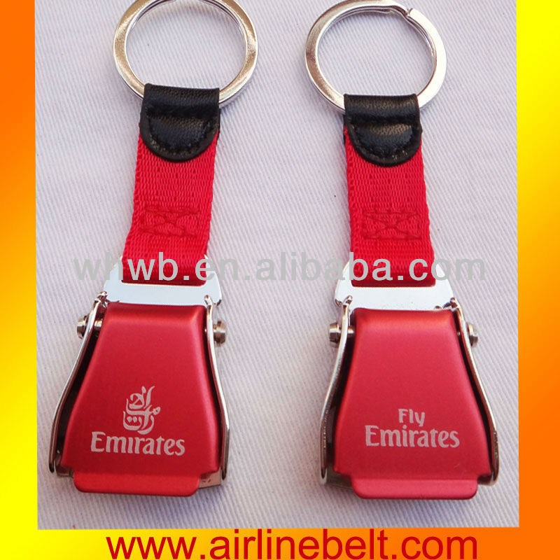 Aircraft Seatbelt keyring for Emirates airline