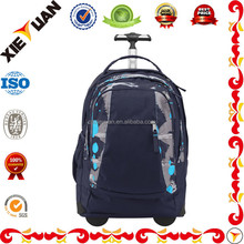 Rolling Wheeled Backpacks Carry On Luggage School Trolley Bag for Boys