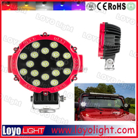 Popular offroad 51W led work light led driving lights round 7 inch for off road