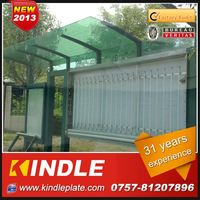 kindle professional modern bus stop sunshade over 30 years experience ISO9001:2008